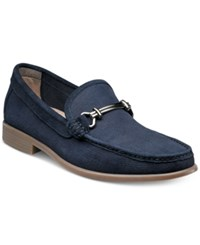 Stacy Adams Men's Kelby Moccasin Toe Loafers Men's Shoes Navy