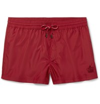 Dolce And Gabbana Slim Fit Short Length Swim Shorts Claret