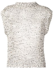 Roberto Collina Open Knit Tank Top Neutrals