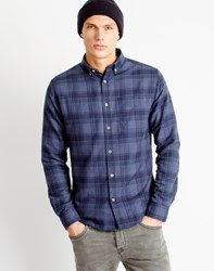 Only And Sons Mens Shirt Long Sleeve Blue