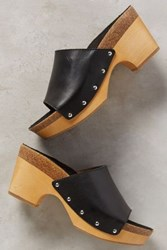 Anthropologie Latigo Lola Clogs Black 9 Wedges