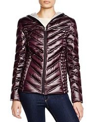 Laundry By Shelli Segal Hooded Short Packable Puffer Jacket Navy Pewter