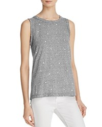 Current Elliott The Muscle Star Print Tee Heather Gray