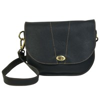 N'damus London Retro Black Saddle Bag