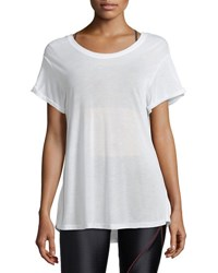 Koral Euphoria Scoop Back Performance Jersey Top White