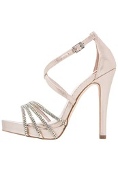 Faith Leslie Platform Sandals Natural Nude