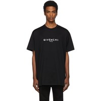Givenchy Black Oversized Paris Vintage T Shirt 001 Black