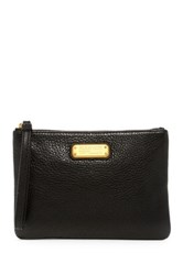 Marc By Marc Jacobs New Q Leather Wristlet Pouch Black