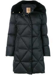 Fay Quilted Padded Parka Silk Feather Down Polyamide Viscose Xxl Black