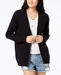 Roxy Juniors' Open Front Cardigan Black