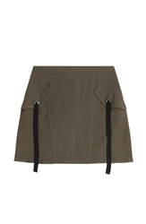 Damir Doma Silk Skirt With Perforated Detail