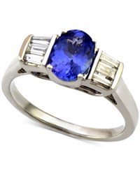 Macy's Tanzanite 1 Ct. T.W. And Diamond 1 3 Ct. T.W. Ring In 14K White Gold