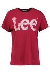 Lee Print Tshirt Biking Red
