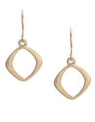 Kenneth Cole Goldtone Small Square Drop Earrings