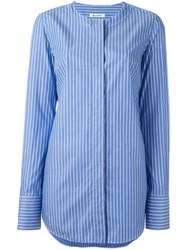 Dondup Band Collar Shirt Blue