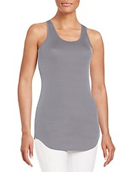 Saks Fifth Avenue Red Racerback Tank Top Dark Grey