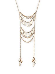 Catherine Malandrino Wild Wonder Goldtone Leaf Ladder Necklace