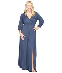 Rachel Pally Plus Size Armand Dress White Label Astral Women's Dress Blue