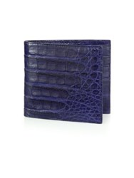 Santiago Gonzalez Crocodile Billfold Wallet Emerald Orange Grey Navy Black Cobalt Brown