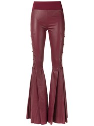 Andrea Bogosian Leather Trousers Women Leather P Red