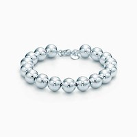 Tiffany And Co. Bead Bracelet In Sterling Silver. No Gemstone