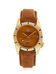 March La.B Tiger's Eye And Suede Automatic Watch