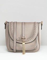 Dune Fold Over Cross Body Bag Taupe Beige