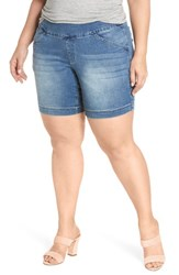Jag Jeans Plus Size Women's Ainsley Pull On Stretch Denim Shorts Med Indigo
