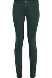 Red Valentino Redvalentino Woman Low Rise Skinny Jeans Forest Green