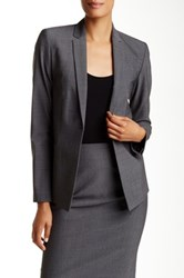 Elie Tahari Darcy Wool Blend Jacket Gray