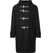 Margaret Howell Argaret Hl Elton Wool Hooded Duffle Coat Black