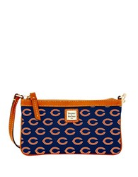 Dooney And Bourke Bears Large Slim Wristlet Navy Bears