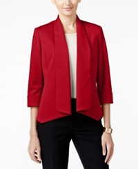 Kasper Callie Draped Blazer Fire Red