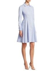 Saks Fifth Avenue Collection Long Sleeve A Line Dress Princess Blue