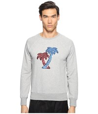 Marc Jacobs Lightweight Sweatshirt Grey Melange Men's Clothing Gray