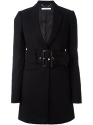 Givenchy Belted Short Coat Black