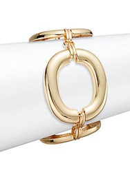 Saks Fifth Avenue Oversized Oval Link Bracelet Goldtone