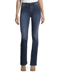 True Religion Becca Mid Rise Boot Cut Jeans Indigo
