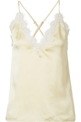 Cami Nyc Everly Lace Trimmed Silk Charmeuse Camisole Pastel Yellow Gbp