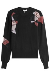 Emilio Pucci Wool Pullover With Silk And Cashmere Black