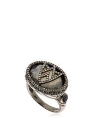 Jade Jagger Chevron Shield Cocktail Ring