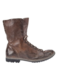 Guidi Distressed Lace Up Boots