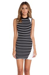 Bless'ed Are The Meek Parallel Dress Black And White