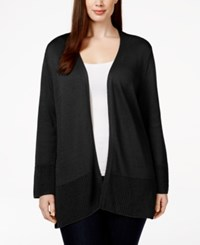 Jm Collection Woman Jm Collection Plus Size Open Front Cardigan Only At Macy's