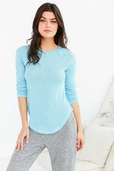 Out From Under Sheer Thermal Long Sleeve Crew Top Sky