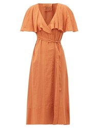 Loup Charmant Zelda Cotton Wrap Dress Brown