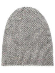 The Elder Statesman Cashmere Knitted Hat Grey