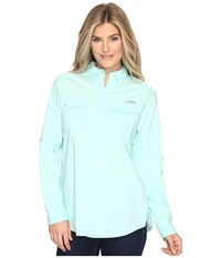 Columbia Bonehead Ii L S Shirt Blueglass Women's Long Sleeve Button Up Green