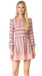 For Love And Lemons Persephone Embroidered Dress Vintage Blush