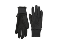 Spyder Stretch Fleece Conduct Glove Black Black Extreme Cold Weather Gloves